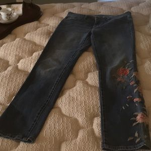 Embroidered jeans nwot